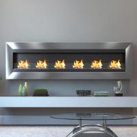 Moda Flame Verrazano 82 in. Wall Mounted Ethanol Fireplace ...