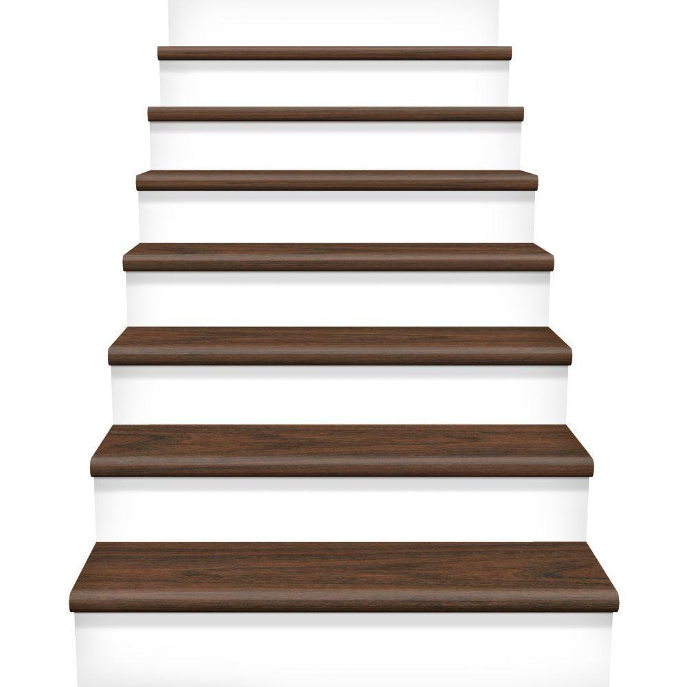 Cap A Tread Hs Canyon Grenadillo 47 In Long X 12 1 8 In Deep X 1 | Hand Scraped Stair Treads | Tread Width | Brazilian Cherry | Stair Parts | Hardwood Floors | Laminate Flooring