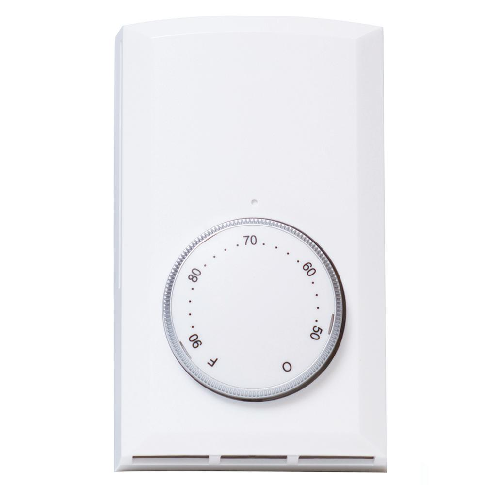 hight resolution of double pole 22 amp 120 volt 240 volt wall mount mechanical non programmable thermostat in white