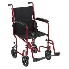 Transport Wheel Chair On Exercises Drive Lightweight Wheelchair In Red Atc19 Rd The Home Depot