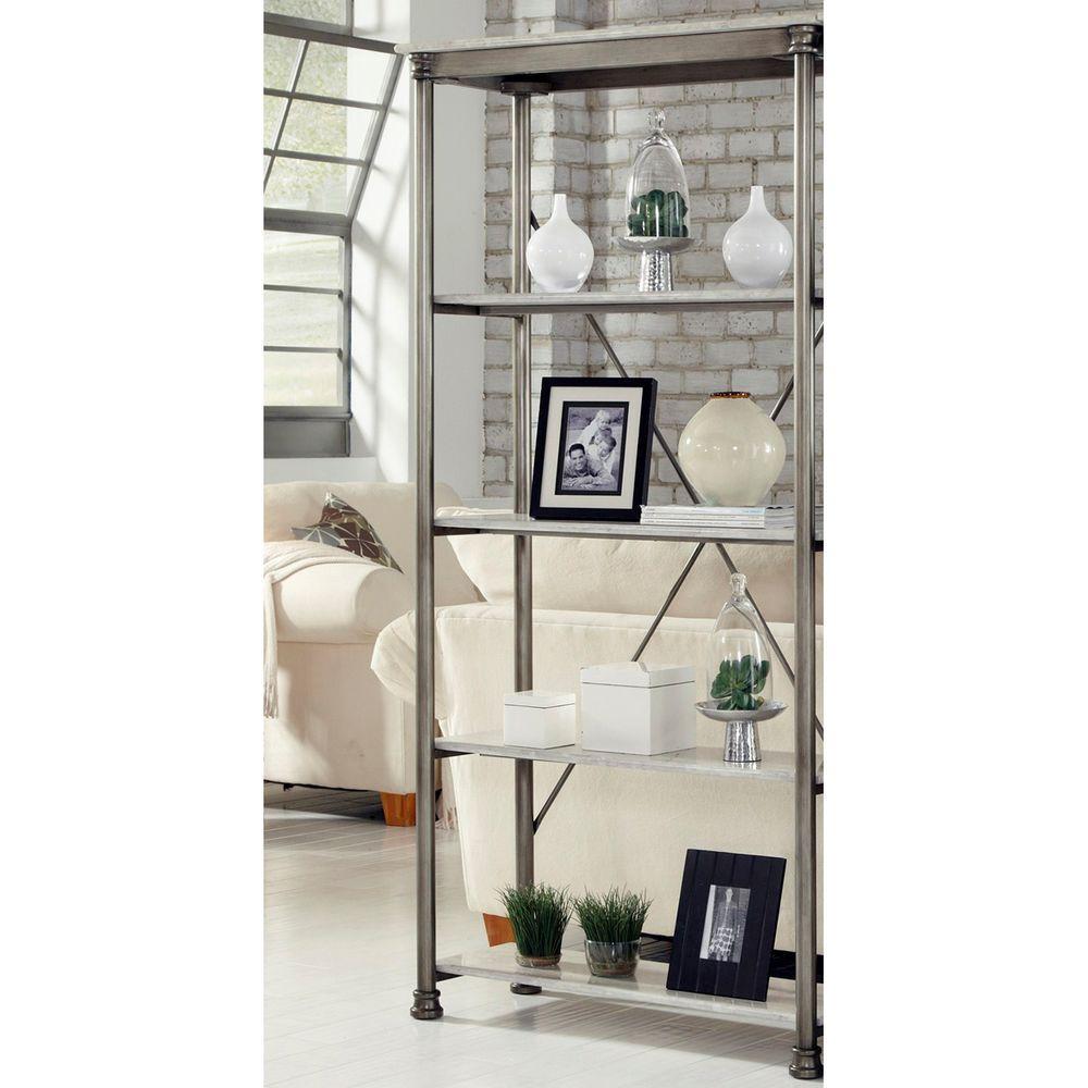 Home Styles Five Shelf 38 in W x 76 in H x 16 in D