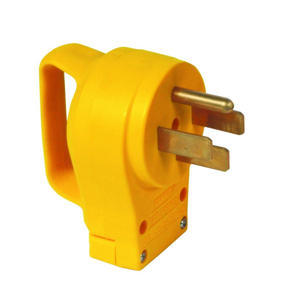 medium resolution of 50 amp power grip replacement male plug