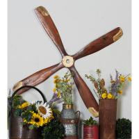 Vintage 4-Bladed Airplane Propeller Wooden Wall Art-92690 ...