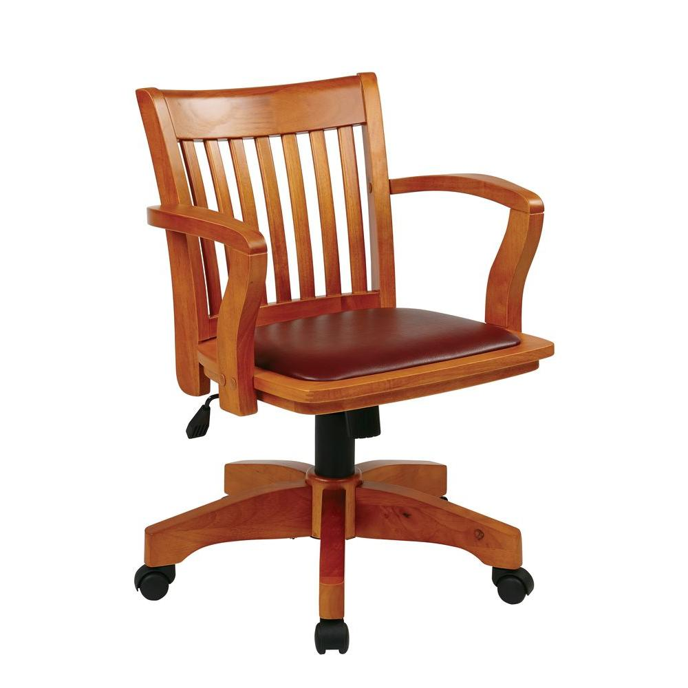 Wooden Bankers Chair Osp Home Furnishings Fruitwood Bankers Chair 108fw 1 The Home Depot