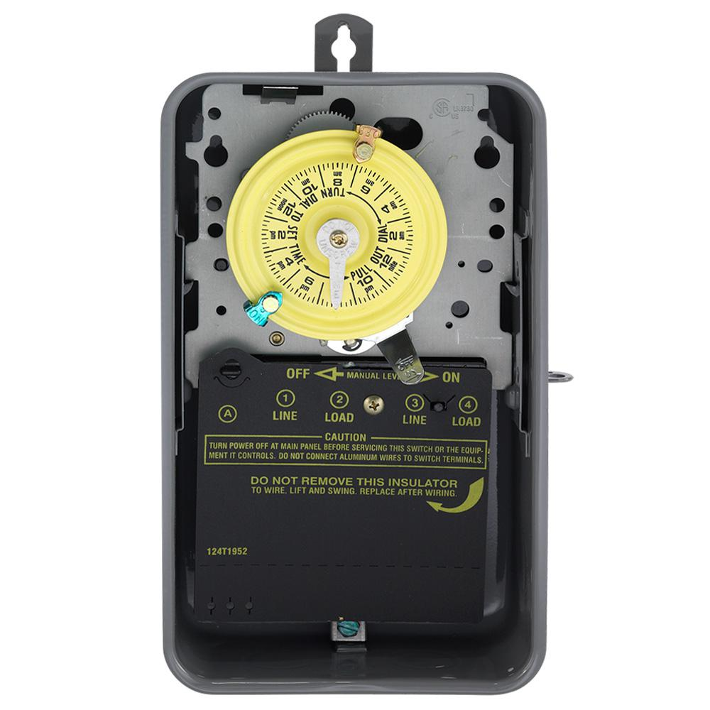 medium resolution of intermatic t104r 40 amp 208 277 volt dpst 24 hour mechanical time switch with