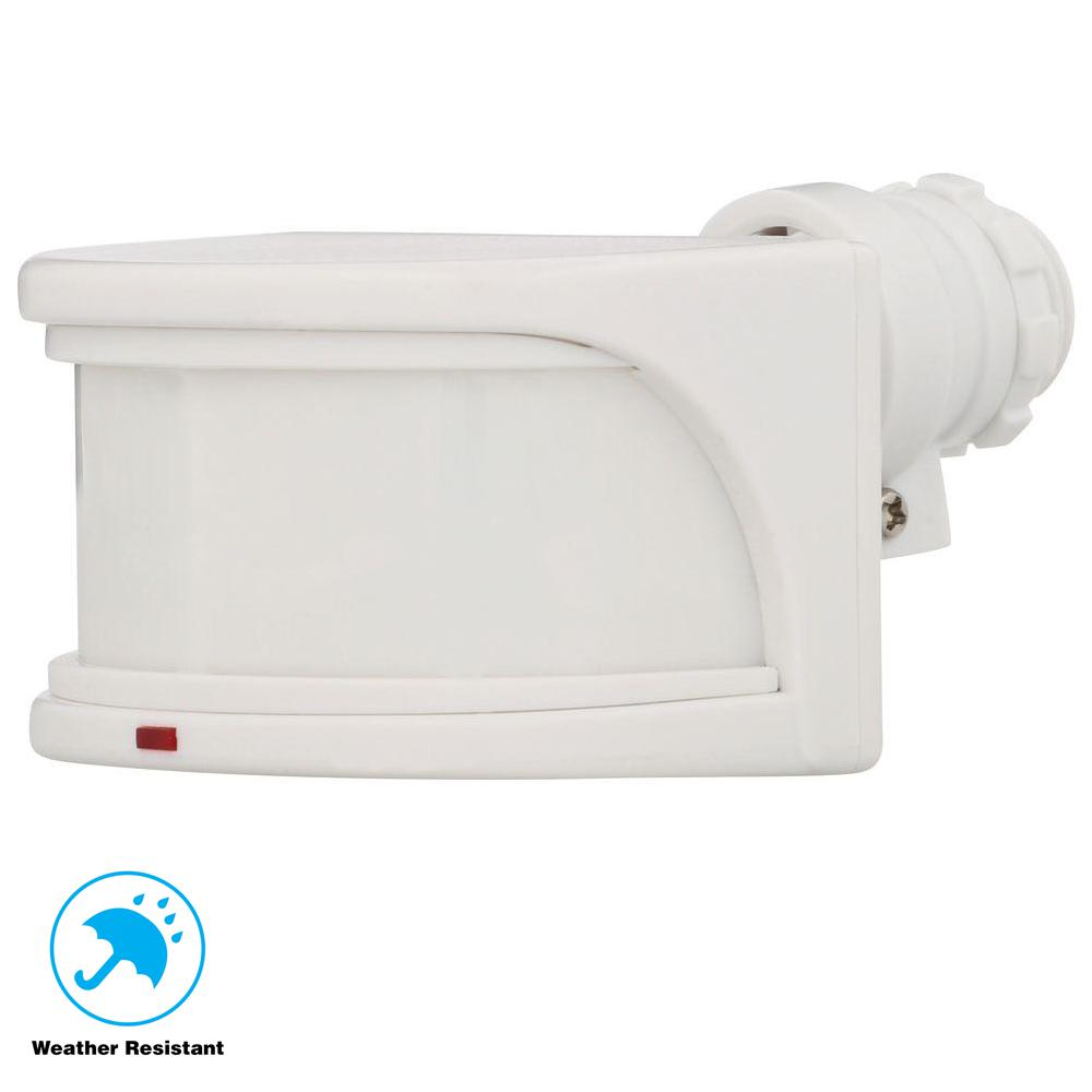 medium resolution of defiant 270 degree white replacement outdoor motion sensor