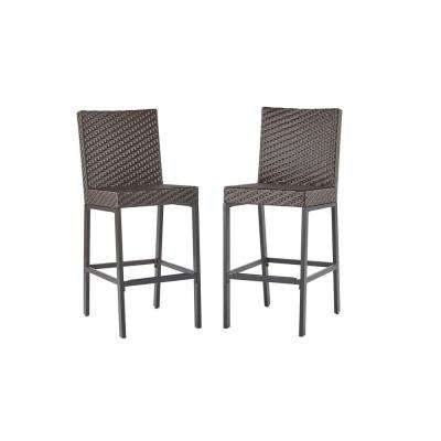 outdoor bar chairs making dining room chair covers hampton bay free shipping stools rehoboth dark brown wicker stool 2 pack