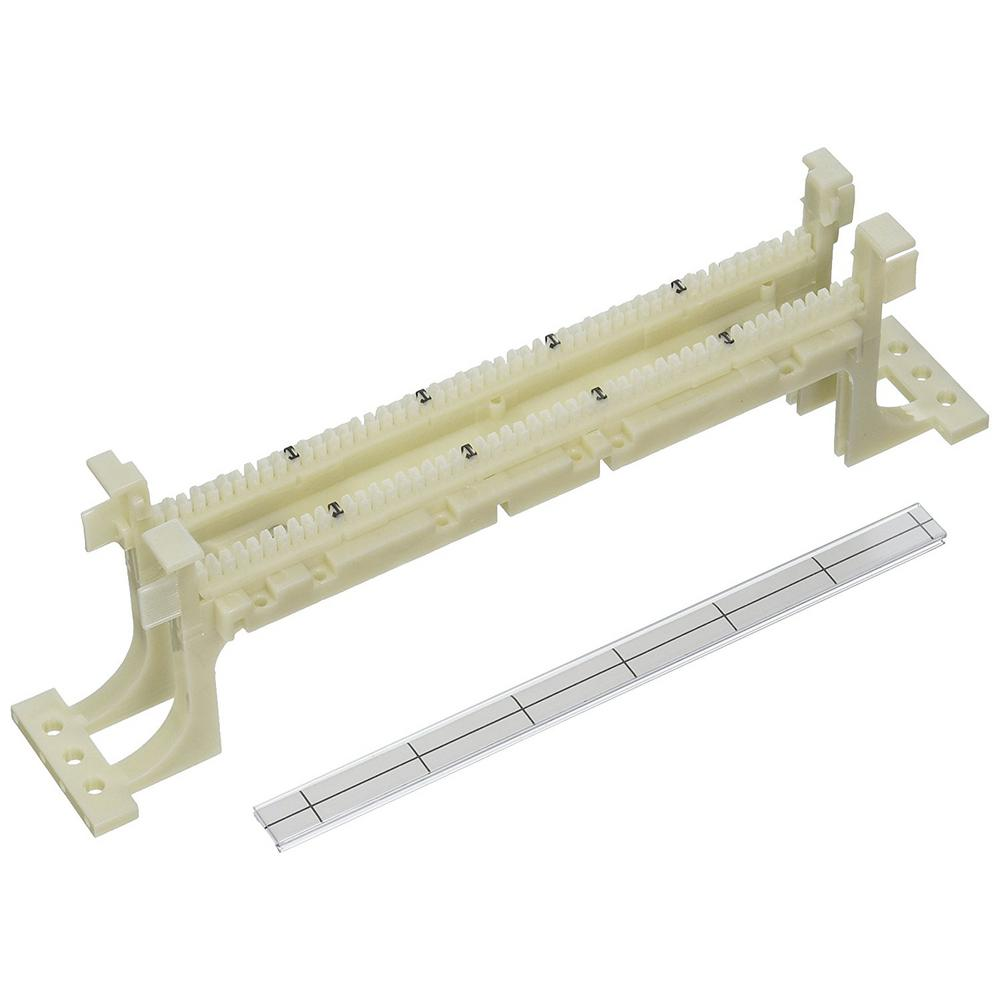 hight resolution of cat 5e 110 style wiring block wall mount with legs ivory 50 pair
