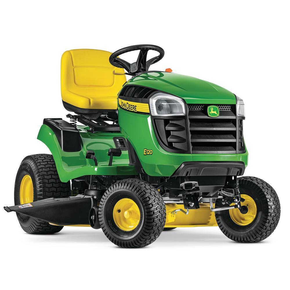 medium resolution of john deere e120 42 in 20 hp v twin gas hydrostatic lawn tractor