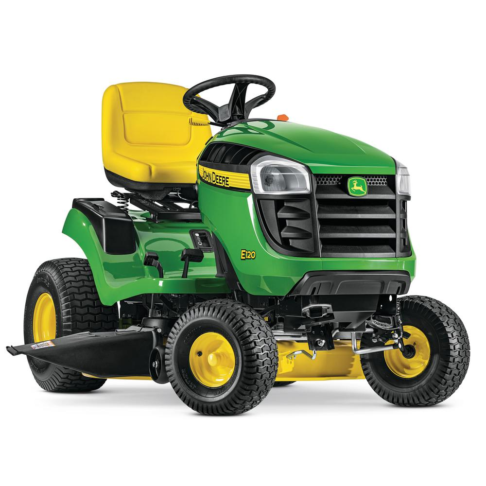 hight resolution of john deere e120 42 in 20 hp v twin gas hydrostatic lawn tractor