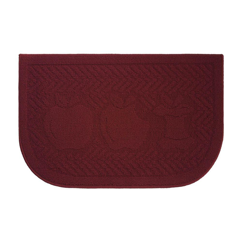 kitchen rugs and mats drawer handles specialty mat the home depot applelisios textured loop brown 18 in x 30 slice wedge