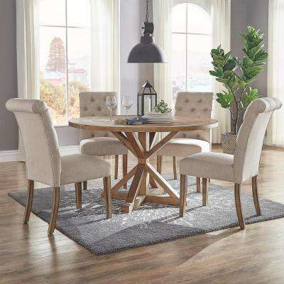 material to recover dining room chairs best chair design of all time upholstery 20 5 kitchen huntington beige linen button tufted set 2