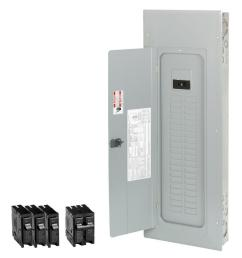 eaton br 200 amp 40 space 50 circuit indoor main breaker loadcenter with cover [ 1000 x 1000 Pixel ]