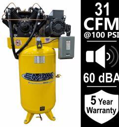 7 5 hp 1 phase silent air electric air compressor [ 1000 x 1000 Pixel ]