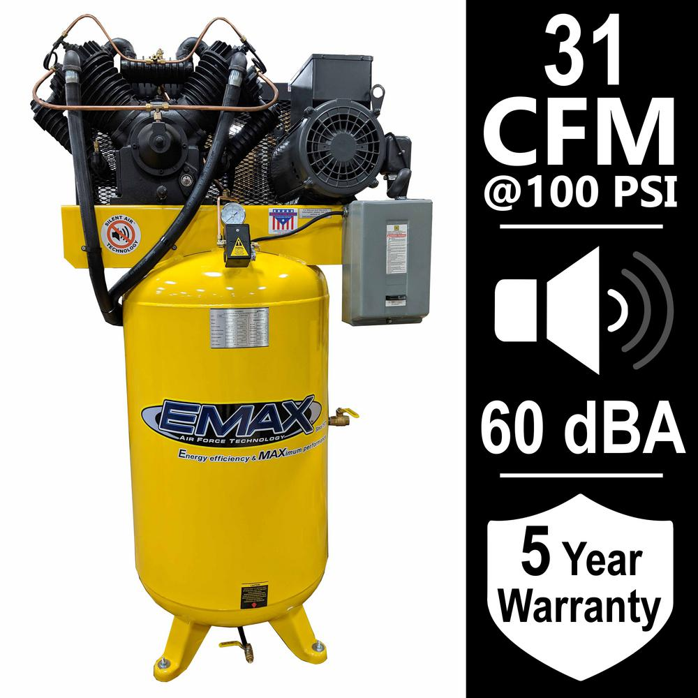 medium resolution of 7 5 hp 1 phase silent air electric air compressor