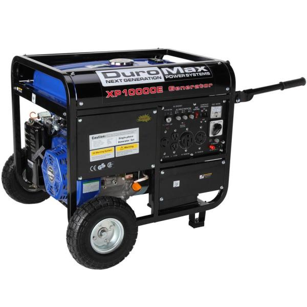 Duromax 10 000-watt Gasoline Powered Electric Start Portable Generator With Wheel Kit - Carb
