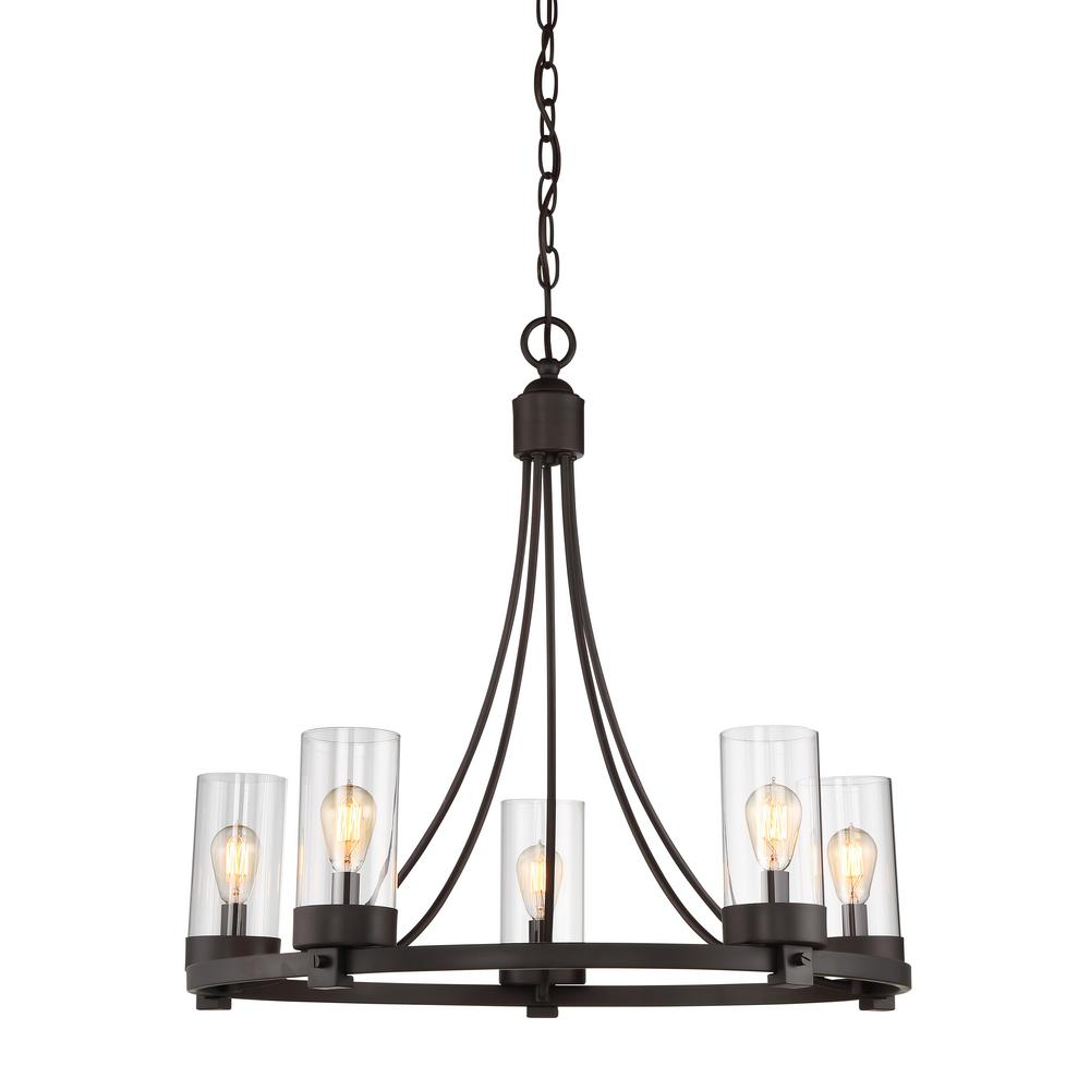 Filament Design 5-Light Oil Rubbed Bronze Chandelier with