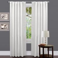 Lush Decor Venetian Window Panel in White - 84 in .L x 54 ...