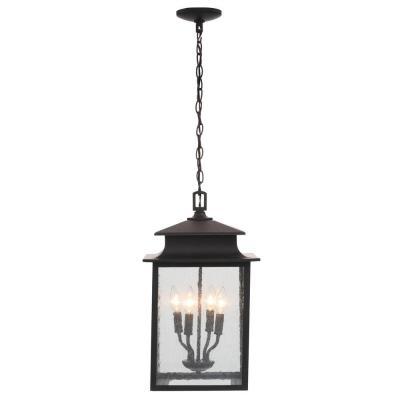 Sutton Collection 4 Light Rust Outdoor Hanging Lantern
