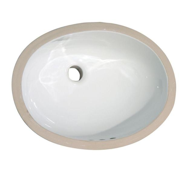 pegasus rosa 570 undermount bathroom sink in white-4-732wh - the