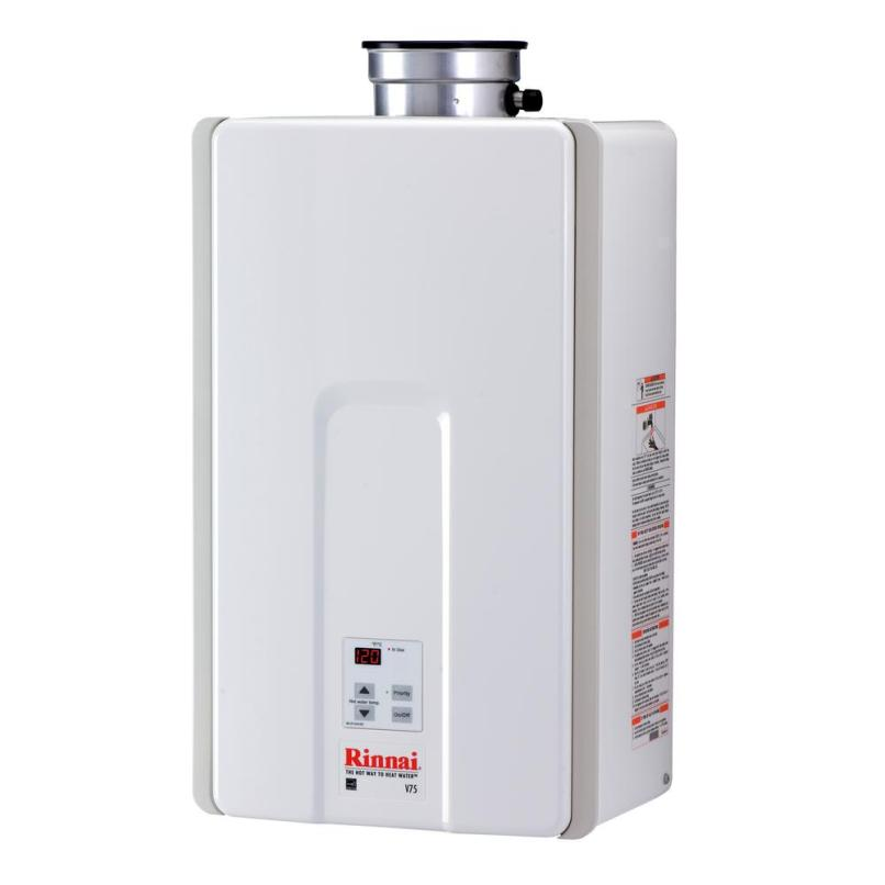 High Efficiency 7 5 Gpm Residential 180 000 Btu Natural Gas Interior Tankless Water Heater