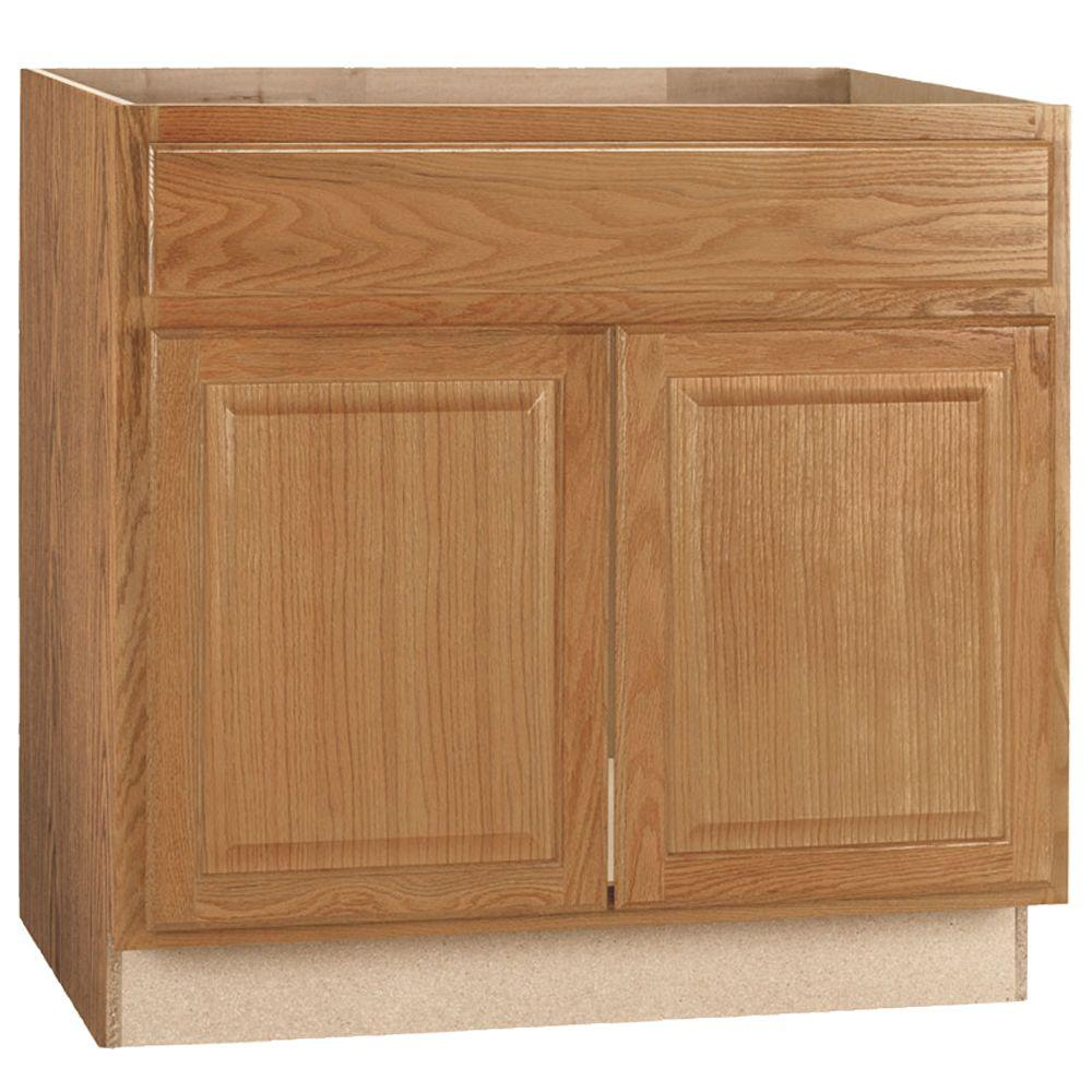 base kitchen cabinets alternatives to hampton bay assembled 36x34 5x24 in sink cabinet medium oak
