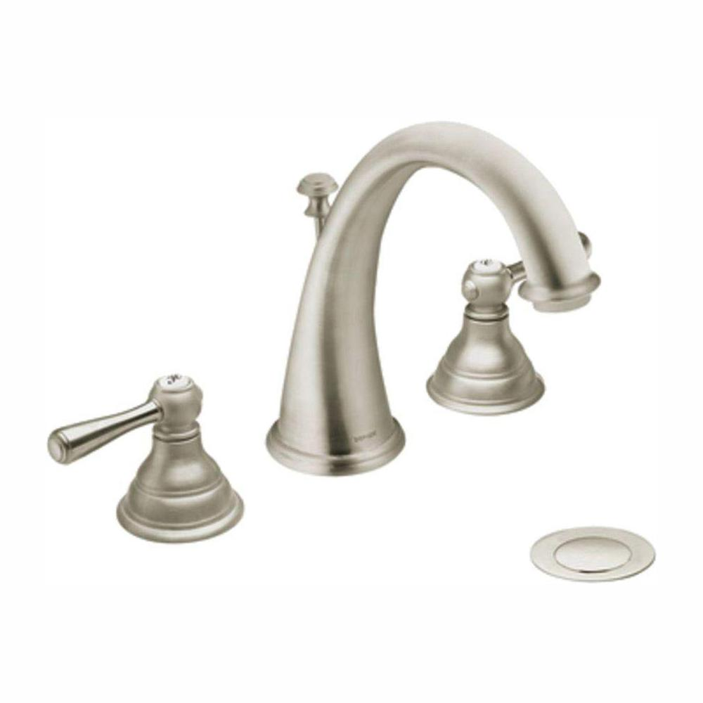 Moen Kingsley Bathroom Faucet Moen Kingsley 8 In Widespread 2 Handle High Arc Bathroom Faucet Trim Kit In Brushed Nickel Valve Not Included