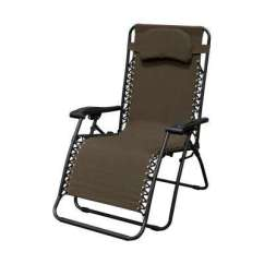 Lawn Chairs Home Depot Large Chair Bed Patio The Infinity Oversized Brown Metal Zero Gravity