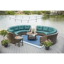 Hampton Bay Torquay Wicker Outdoor Sofa With Charleston
