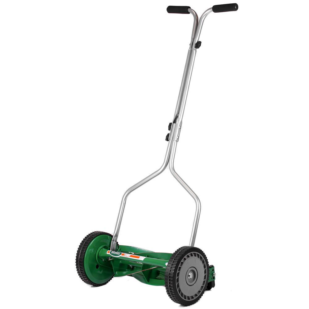 medium resolution of scotts 14 in 5 blade manual walk behind reel mower