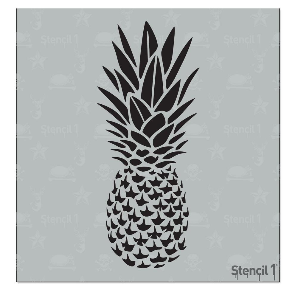 pineapple decorations for kitchen rug set stencil1 small stencil-s1_01_300_s - the home depot