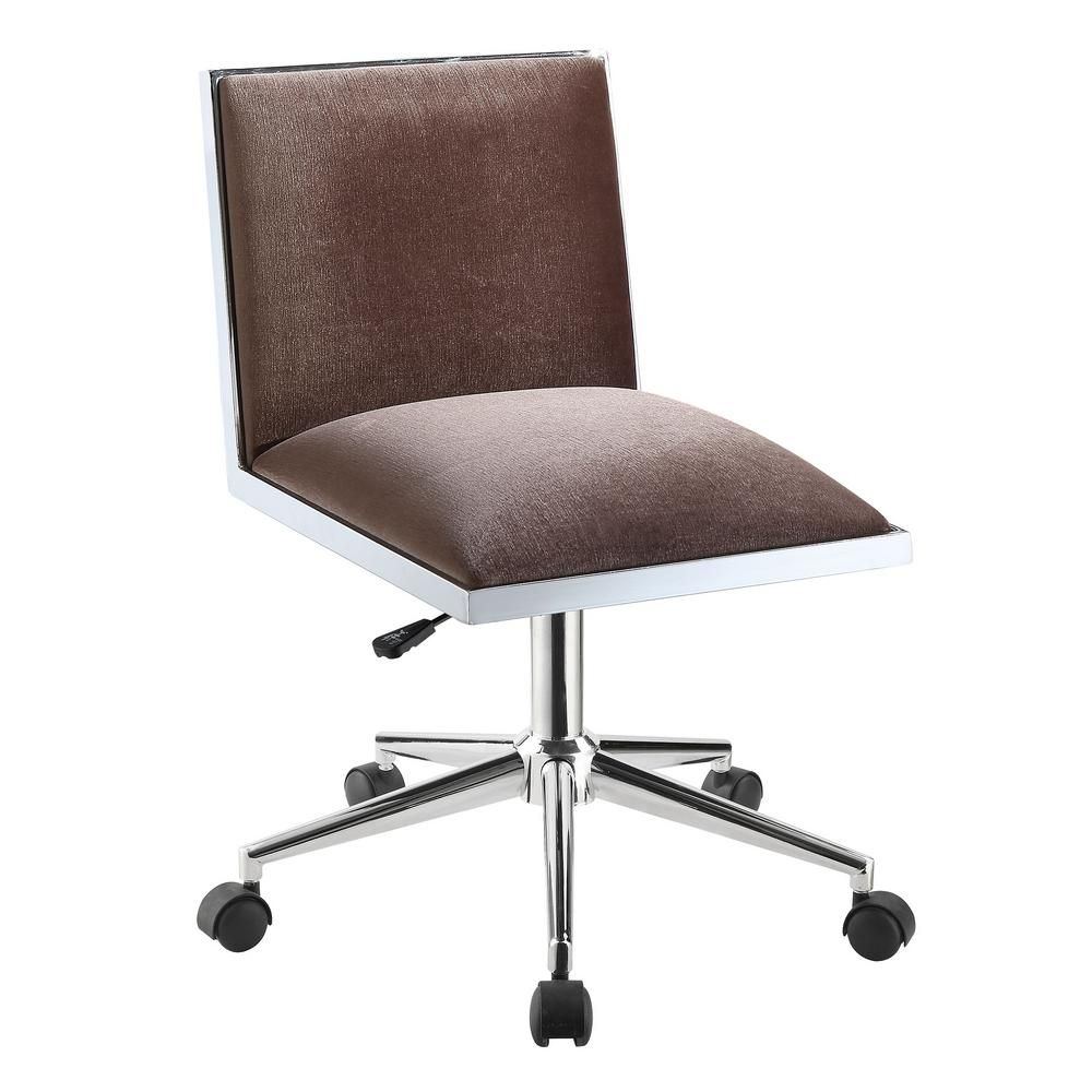 Height Adjustable Chair Athol Brown Contemporary Office Chair With Pneumatic Height Adjustable Seat