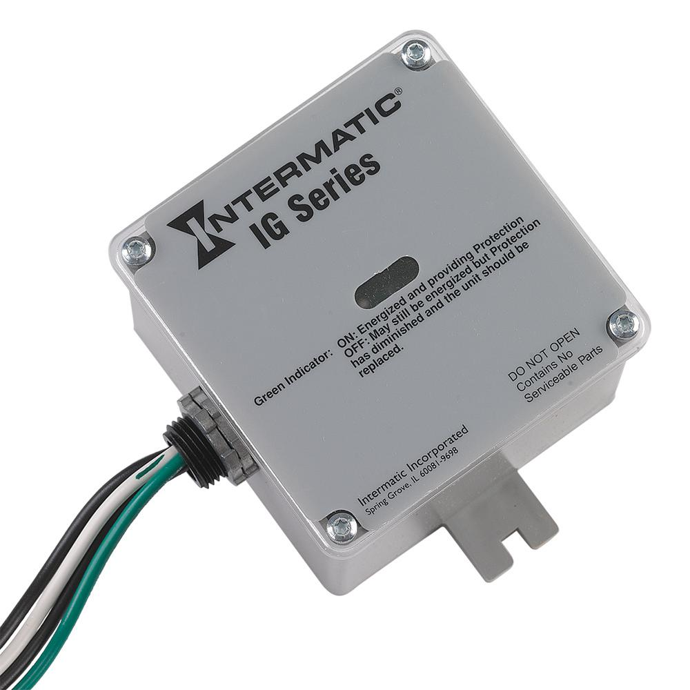 hight resolution of intermatic type 1 or 2 surge protective device white