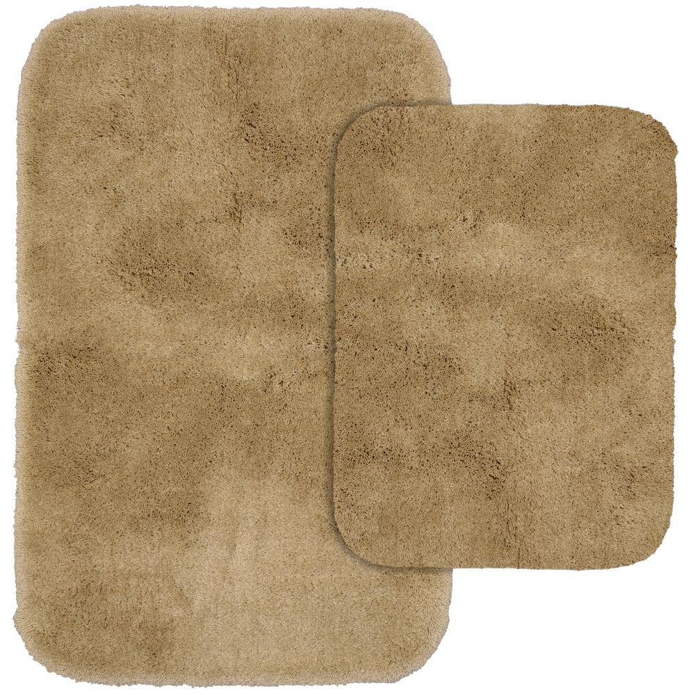 Garland Rug Finest Luxury Taupe 21 In X 34 In Washable