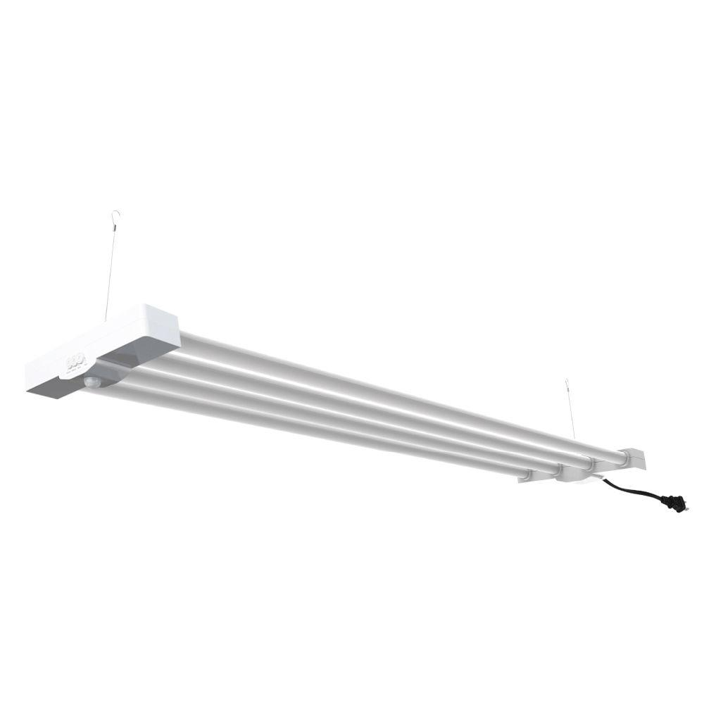Commercial Electric 4 ft. 4-Light White LED Utility Motion
