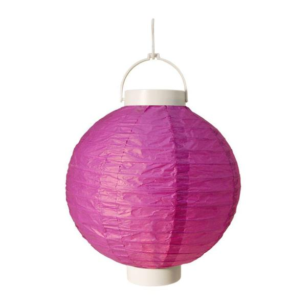 Lumabase Battery Operated Paper Lantern In Purple 3-count