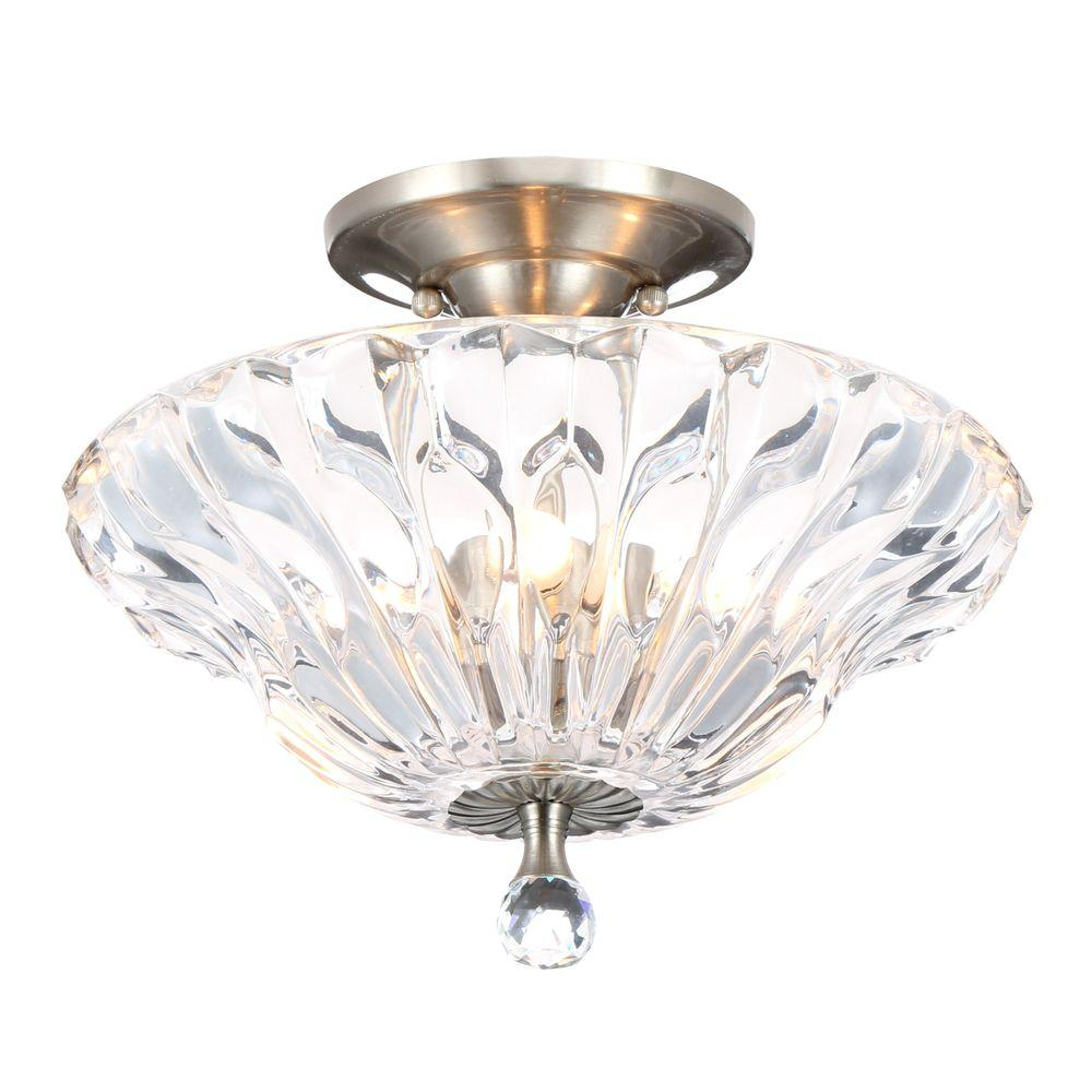 Crystal Semi Flush Mount Lighting