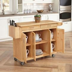 Wooden Kitchen Cart Industrial Tables Home Styles Natural With Breakfast Bar 5023 95 The