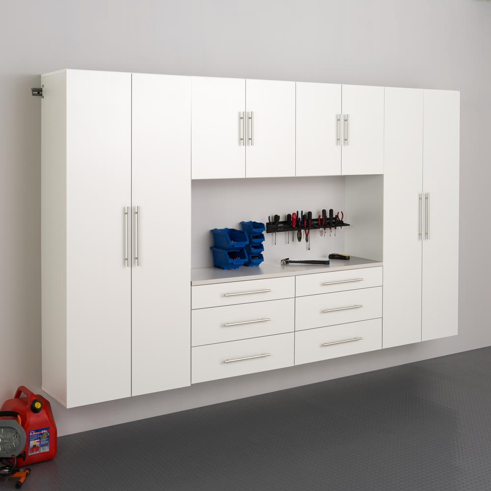 Prepac Hangups 72 In H X 120 In W X 16 In D White Wall Mounted Storage Cabinet Set I Wrgw 0709 6m The Home Depot