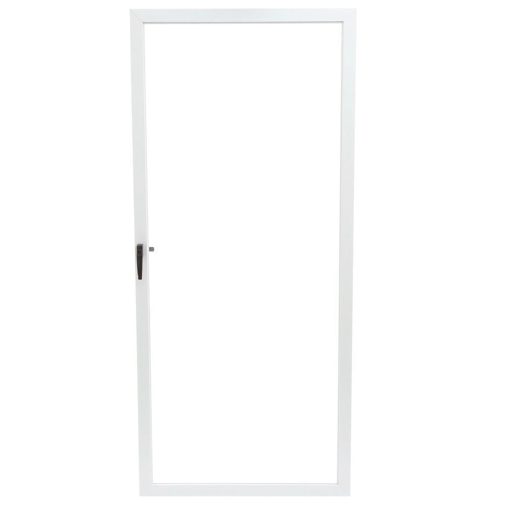 EMCO 36 in. x 80 in. 75 Series White Fullview Storm Door