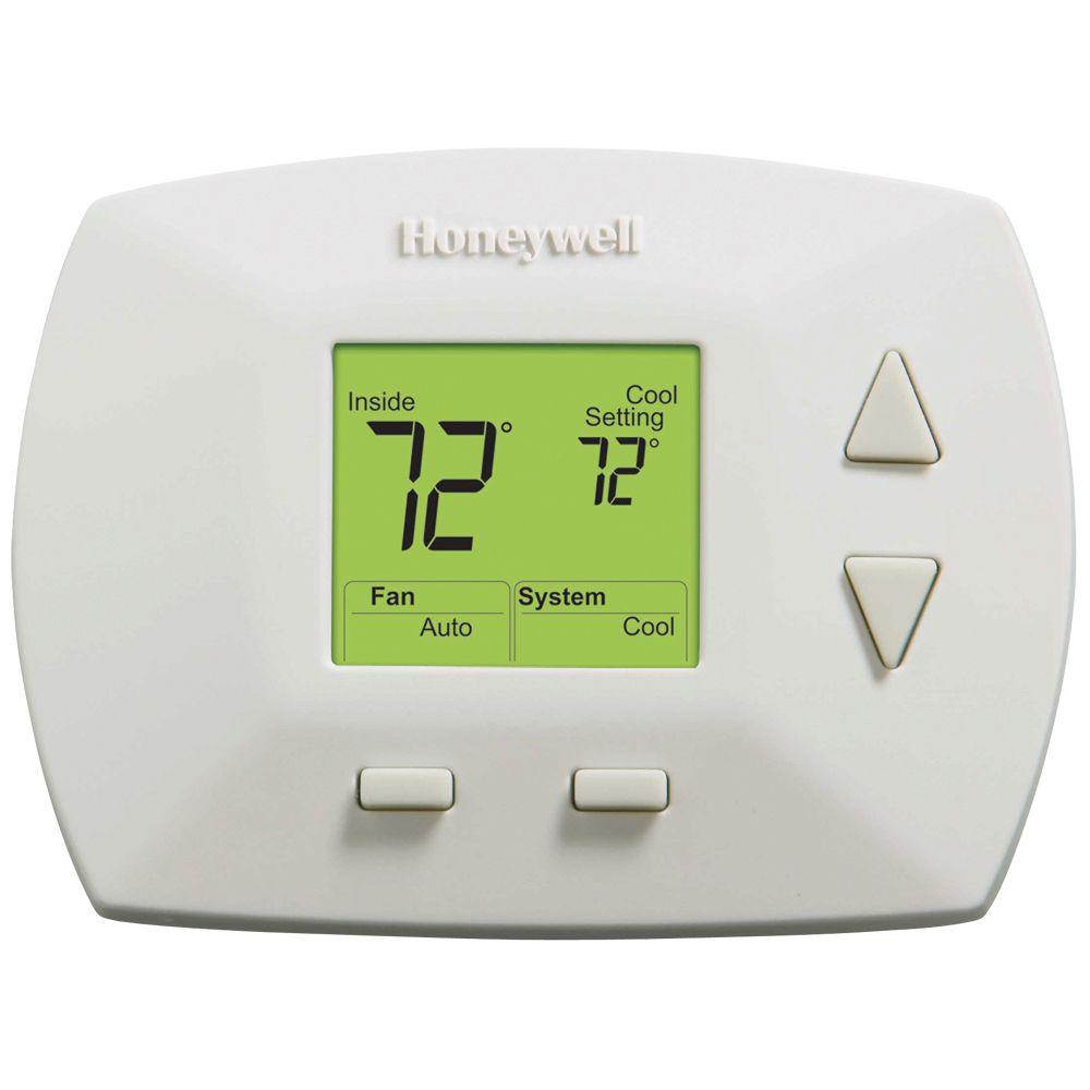 medium resolution of honeywell deluxe digital non programmable thermostat