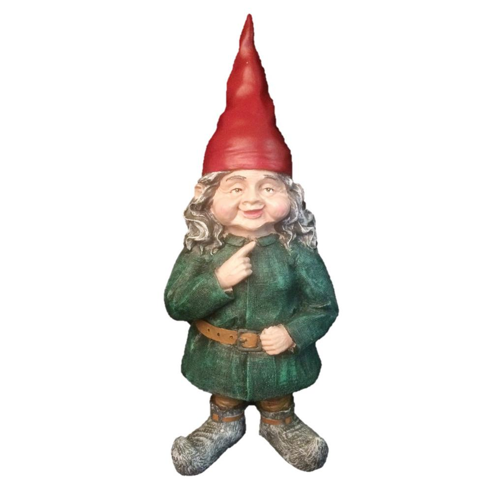 Homestyles 8 5 In H Zelda The Female Garden Gnome Figurine 36665 The Home Depot