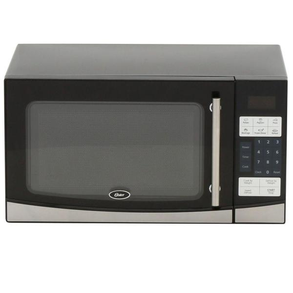 Oster 1.1 Cu. Ft. 1000-watt Countertop Microwave In Black-ogb61102 - Home Depot