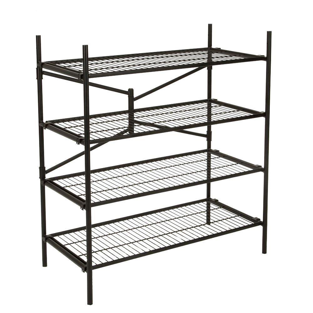 Cosco 43 in. W x 48 in. H x 21 in. D 4-Shelf Steel Folding