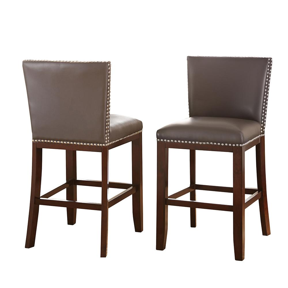 counter height chair hanging garden steve silver company tiffany gray chairs set of 2