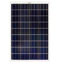 100 watt polycrystalline solar panel for rv s boats and 12 volt systems [ 1000 x 1000 Pixel ]