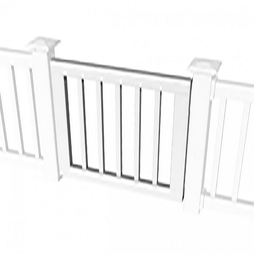 Rdi 3 Ft Standard Gate Kit For Square Baluster Original Rail | Home Depot Metal Spindles | Rail Kit | Oil Rubbed Bronze | Aluminum | Handrail | Staircase