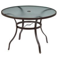 Hampton Bay Mix and Match Round Metal Outdoor Dining Table ...