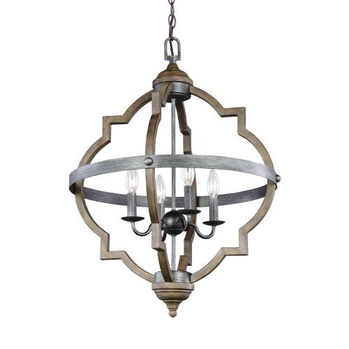 small resolution of sea gull lighting socorro 20 875 in w 4 light weathered gray and distressed