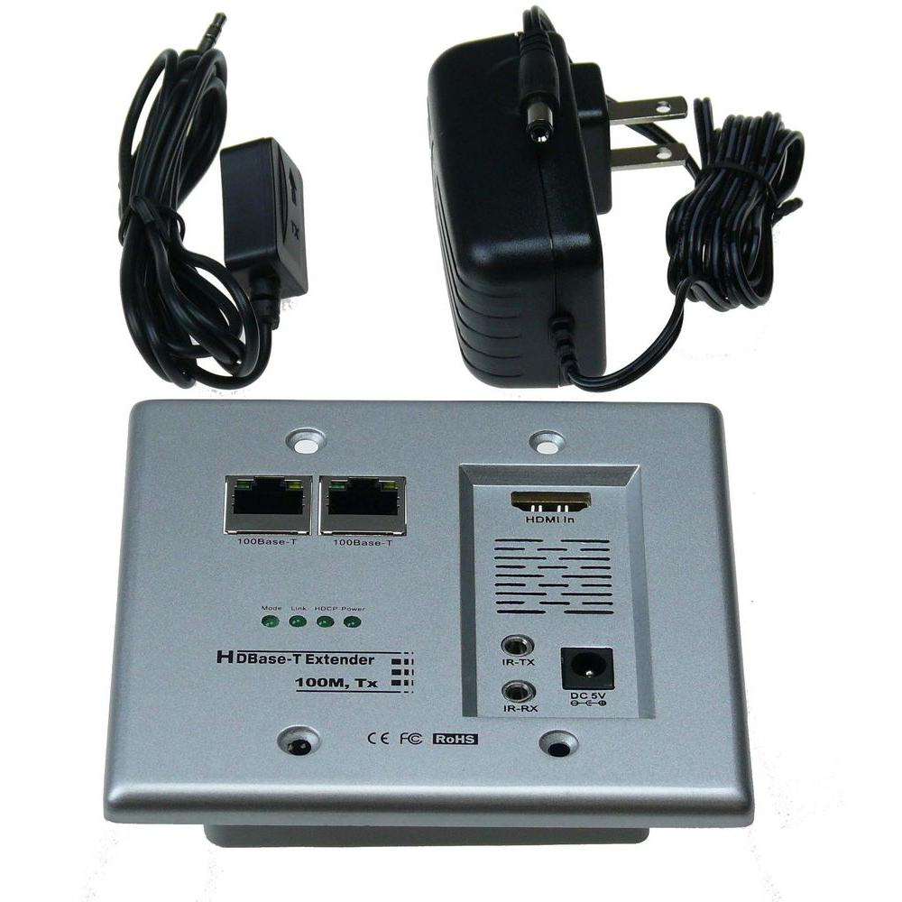 hight resolution of ntw hdbase t hdmi and networking wall plate extender with cat5e 6 ready
